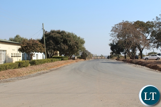 ONE of the roads that have been worked on and up graded to bituminous standard in Riverside township by a Chinese Contractor in Choma.