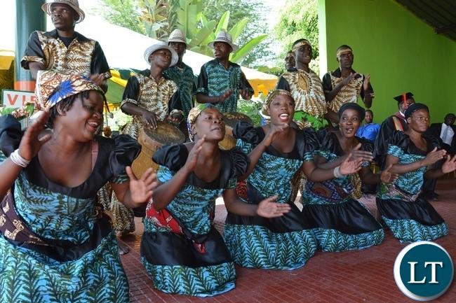 Kumuzikwatu Dancing Group Performs during the NIPA 16th Graduation Ceremony