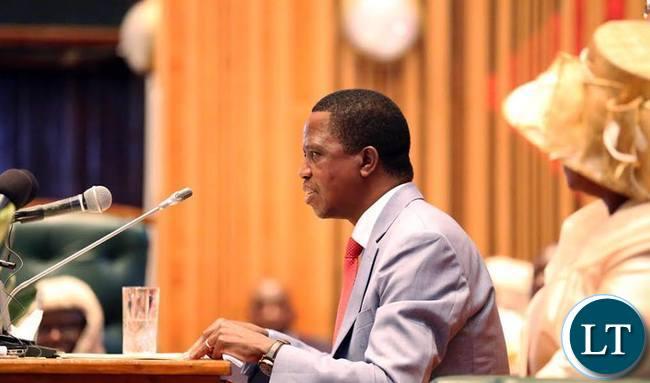 President Edgar Lungu Address Parliament