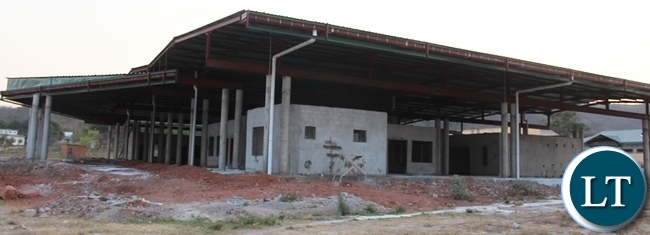 Itezhi-Tezhi modern Market is progressing well . Above, the structure shaping up at a fat rate
