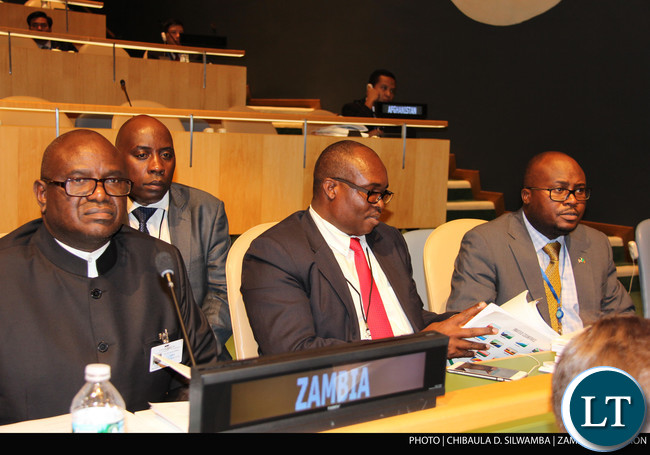 Speaker of the National Assembly of Zambia Dr Patrick Matibini at the Fourth World Conference of Speakers of the Parliament at UN Headquarters in New York on Monday  31stAugust 2015. PHOTO   CHIBAULA D. SILWAMBA   ZAMBIA UN MISSION