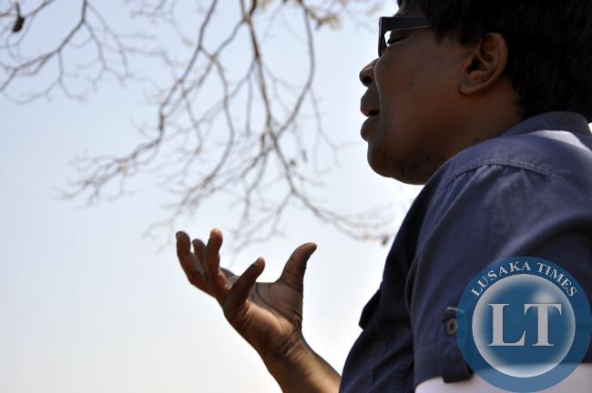 NGOCC Executive Director Director Engwase talks women in Chief Chungu's area in Luwingu.