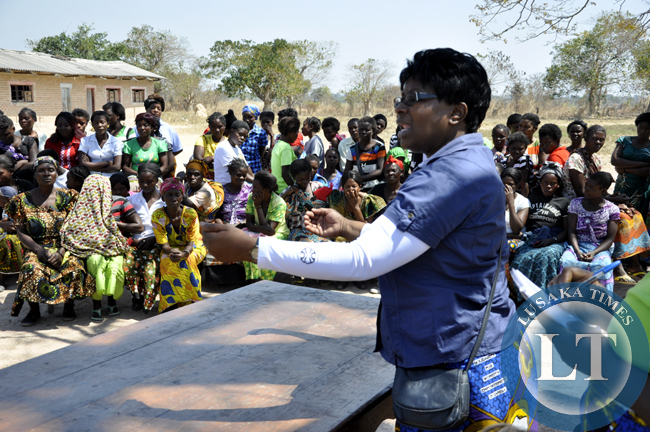 NGOCC Executive Director Director Engwase talks women in Chief Chungu's area in Luwingu