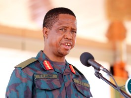 President Edgar Lungu launch ZNS Earth Moving Euipment