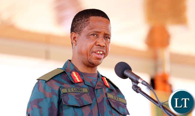 President Edgar Lungu launch ZNS Earth Moving Euipment