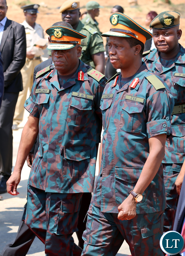 President Edgar Lungu with ZNS Commander Gen Nathan Mulenga 1