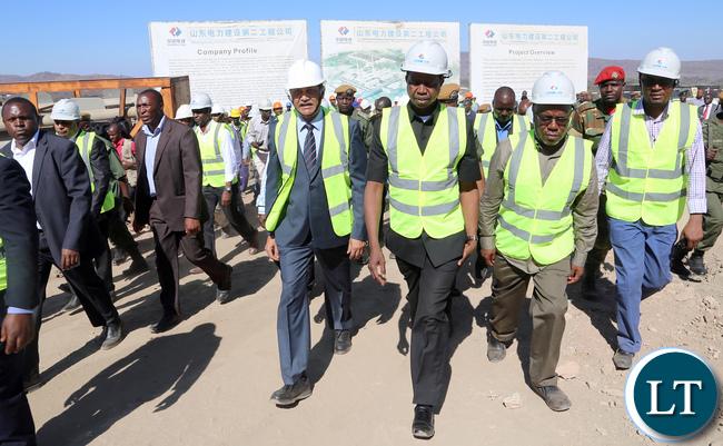 President Lugu tours Maamba Collieries Plant