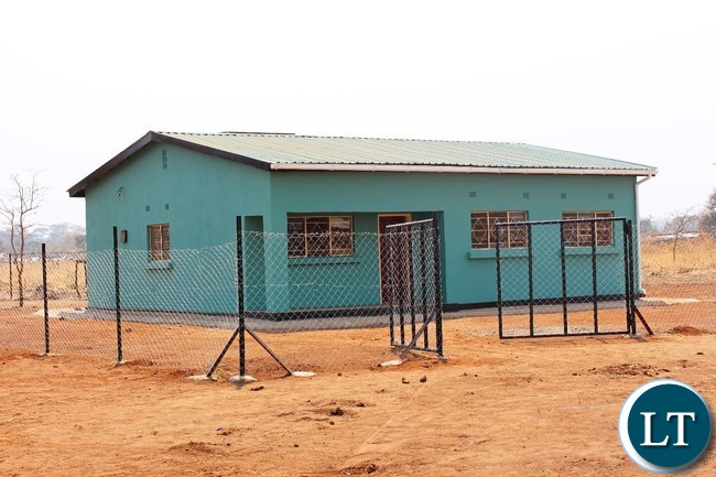 A House for a health staff which is part of the health post constructed by JTI for the community of Dwankhozi in Chipangali constituency.