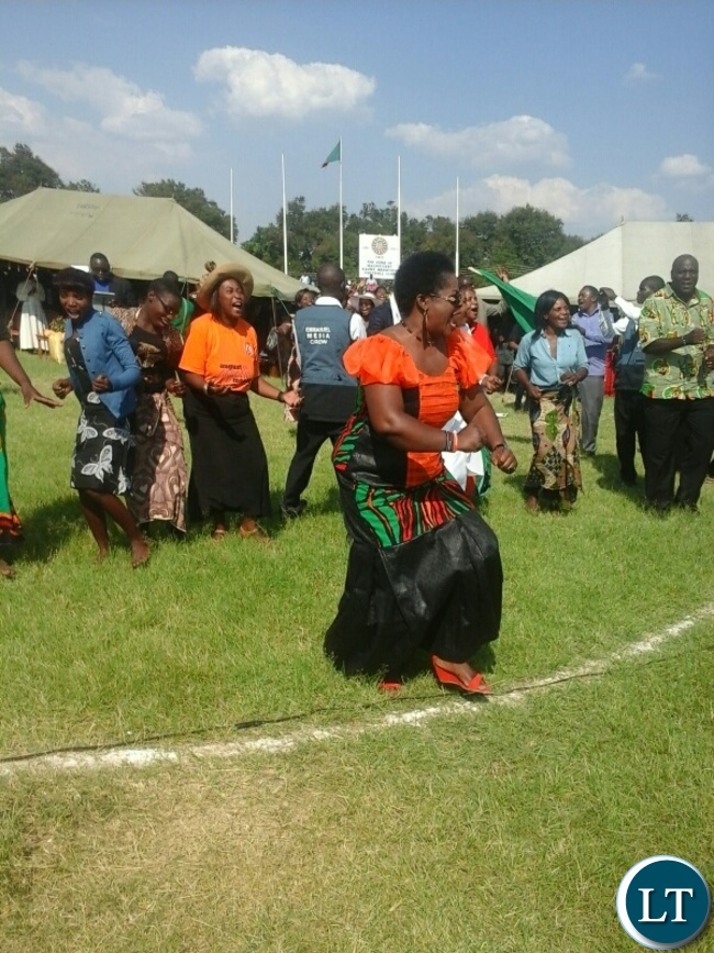 Part of the crowd that attended prayers held at kabwe's Godfrey stadium