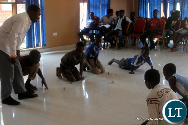 Youths Playing games at OYDC
