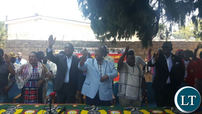 UPND Leadership on hand to welcome defectors