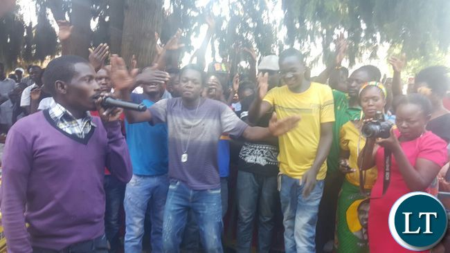 UPND Supporters at the defection meeting