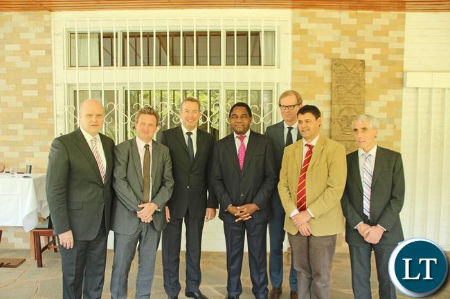 EU Heads of Mission with UPND President Hakainde Hichilema