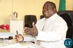 Chief Government Spokesman Chishimba Kambwili