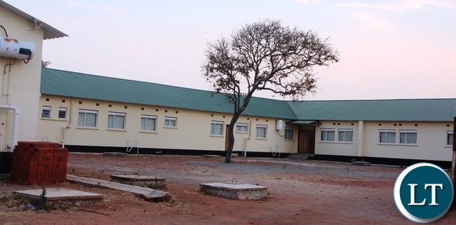 Serenje district Hospital has been completed and is slated for commissioning soon