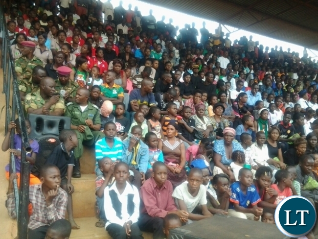 People who thronged David Kaunda stadium to celebrate Independence Day in Chipata