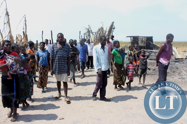 Victims of Imuba Village of Katongo Lower area in Mongu going to be addressed by Government after their entire village was burnt to ashes on Sunday, October 18, 2015.