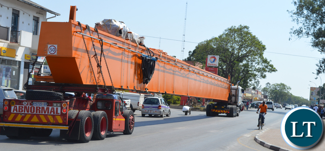 CHOMA residents catch a glimpse of a Copperbelt bound abnormal load truck along the Choma-Lusaka Road from South Africa