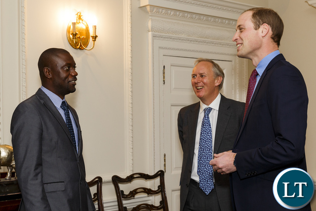 osmas and HRH Prince William. Photo: Tusk Trust