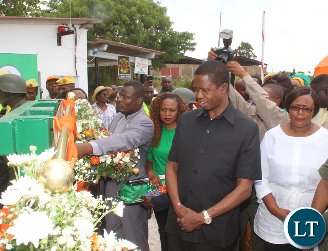 President Edgar Lungu after unveiling the plaque.