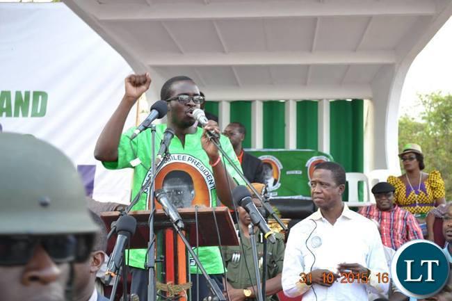 PF Kitwe District Spokesperson Christopher Kang'ombe