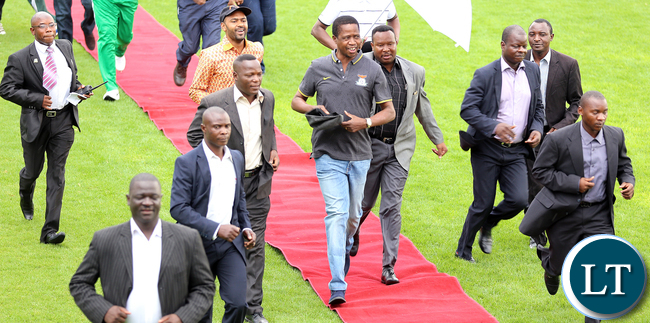 FILE: President Edgar Lungu at The 2015 Barclays Cup Final at Nkoloma Stadium Between Buffaloes Fc Vs Nkwazi,  Buffaloes Won theCup on 2-0 - Pictures By Eddie Mwanaleza/Statehouse.