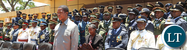 President Lungu at The defence Staff College