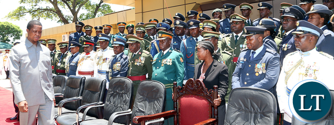 President Lungu at the defence College