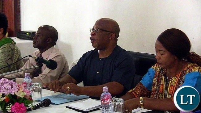 Nevers Mumba at a Press Briefing