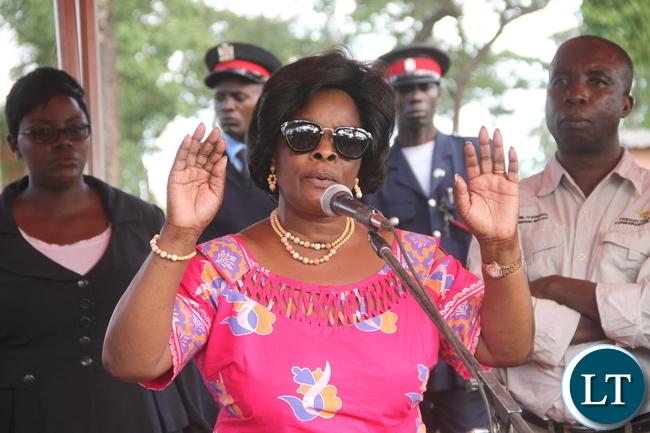 First Lady Edgar Lungu