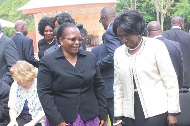 Vice President inonge Wina with Chief Justice Ireen Mambilima