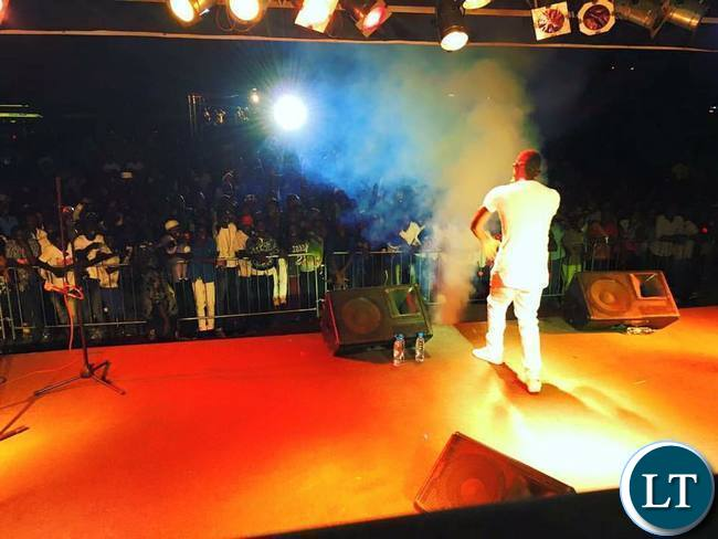 Macky 2 at the Zed Me Free Concert