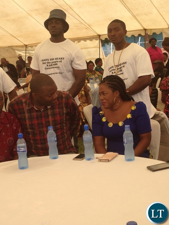 Mr and Mrs Lusambo at the Xmas party for the elderly of Kabushi on Saturday