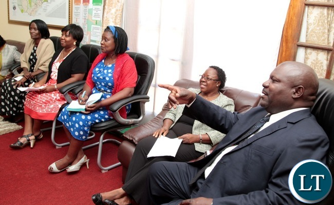 Special Assistant for Project and Monitoring to the President Lucky Mulusa with Zambia Association Women in Constructions (ZAWIC) at State House