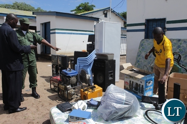 Police in Mongu have recovered stolen items worth thousands of kwachas in an operation carried this month and eight suspects are in custody