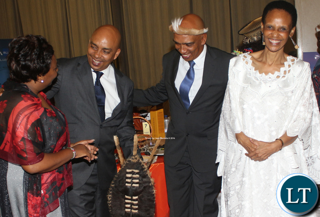 At the far left Kenya High Commission Sikose Ntombazana Mji and South African High Commission Sikose Ntombazana Mji at the far right with the Phiri's: Sipho and Guy.