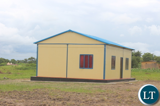 A staff house at a newly commissioned Health Post in Kabwe's Kamakuti area.Picture by Kelvin Tembo