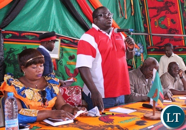 Kambwili addressing Mporokoso residents