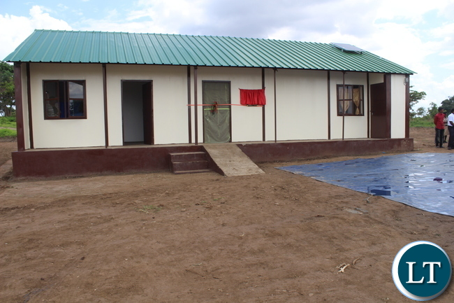 The completed Muunyumabisi Health Post which was officially opened by Deputy Minister of Health Dr Chitalu Chilufya yesteroday. The Health Post is the first to be completed in the District out of the total of 11 allocated to Monze District.