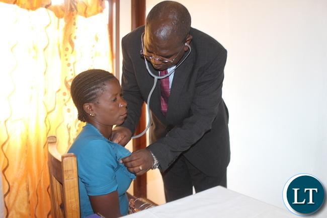 Minister of Health Chitalu Chilufya