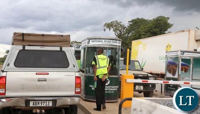 National Roads Fund Toll Gates near Kapiri Mposhi