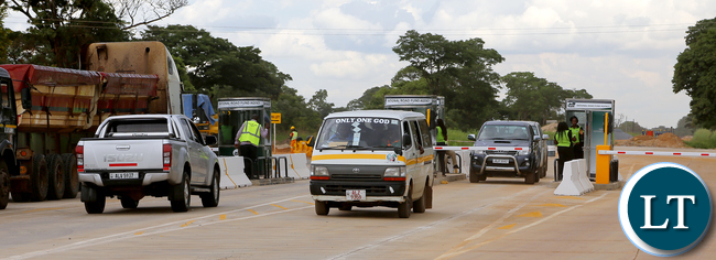 National Roads Fund Toll Gates near Kapiri Mposhi