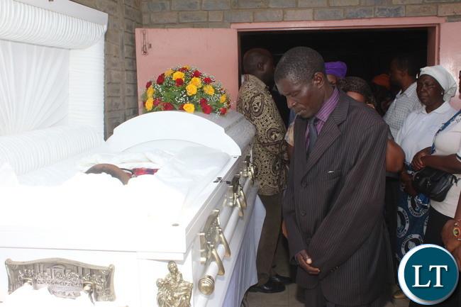 Lusaka residents, parish mates, work mates, friends paying last respect.