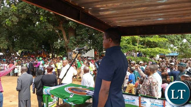 President Lungu in Katete this morning