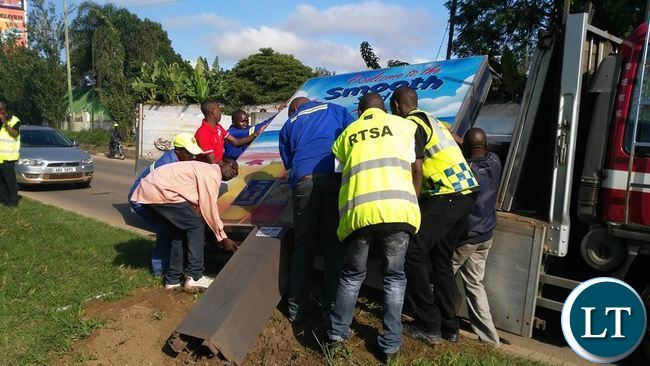 RTSA on duty in Lusaka