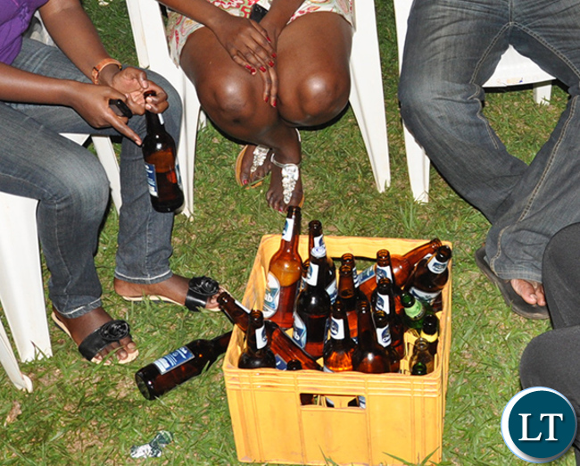 Women Drinking Beer
