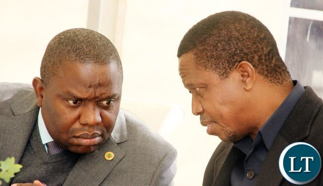 President Lungu speaks with Foreign Affairs minister Harry Kalaba