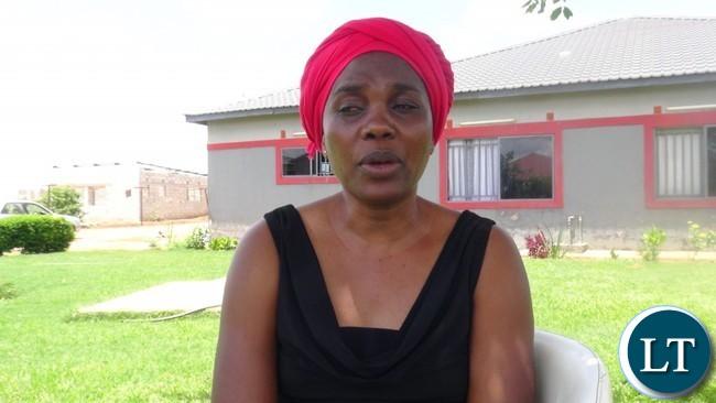 Zambia National Women's Lobby National Board Chairperson Beauty Katebe