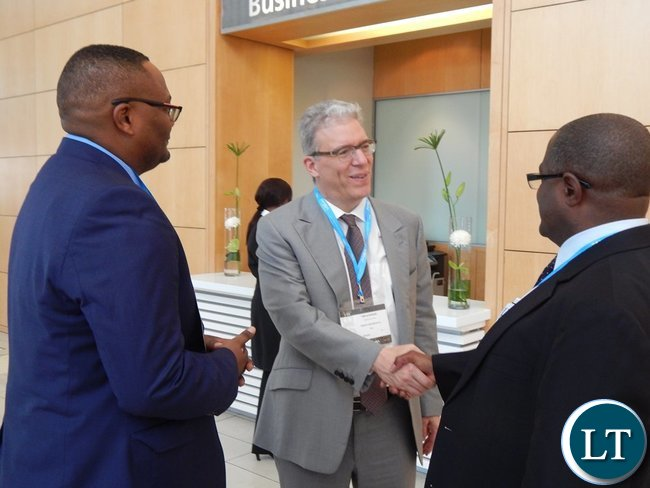 Mines Minister Mr. Christopher Yaluma (r) with His Excellency Mr. Emmanuel Mwamba meet Vandeta Resources Plc CEO Mr. Tom Albanese.