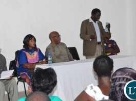 Meeting party officials in Kapiri Mposhi